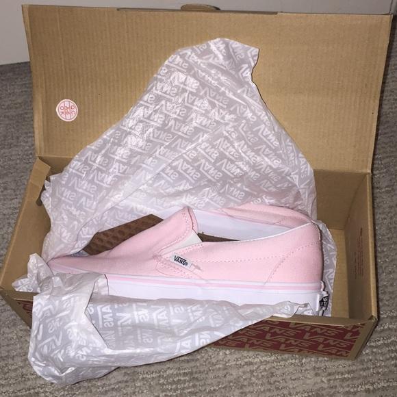 Once worn ballerina pink slip on vans size 8.5. M 5a84fe0a9d20f02776f9f690 b0342ecd1